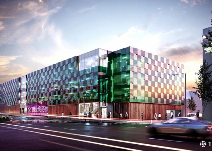 Här byggs Skellefteås största parkeringshus